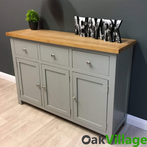 Greymore Painted Oak Large Sideboard - Oak Village