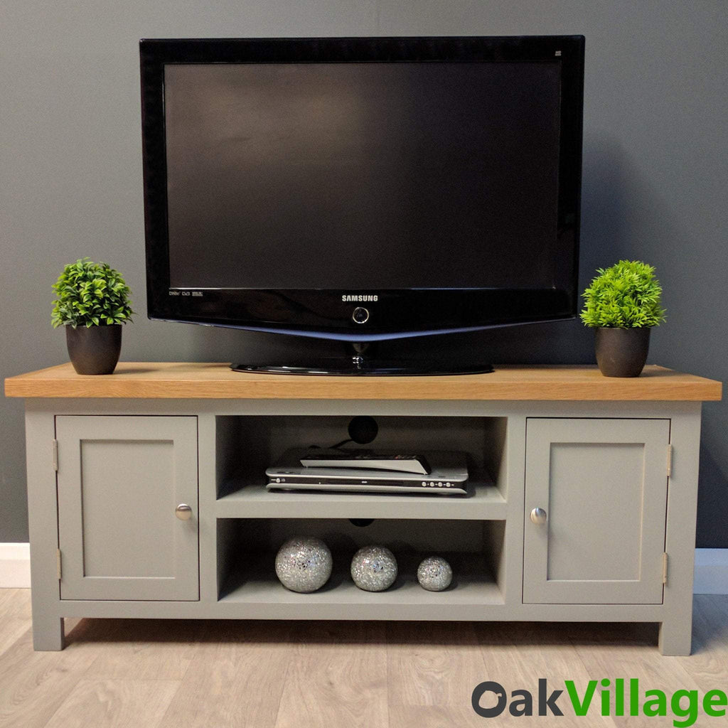 Greymore Painted Large Plasma TV Unit - Oak Village