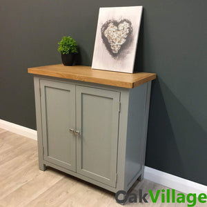 Greymore Painted Oak Linen Cupboard - Oak Village