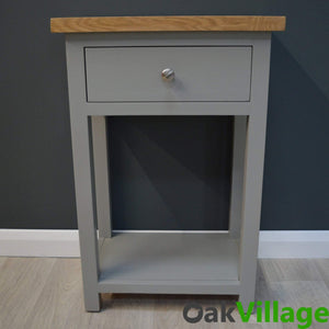 Greymore Painted Oak Small Console Table - Oak Village