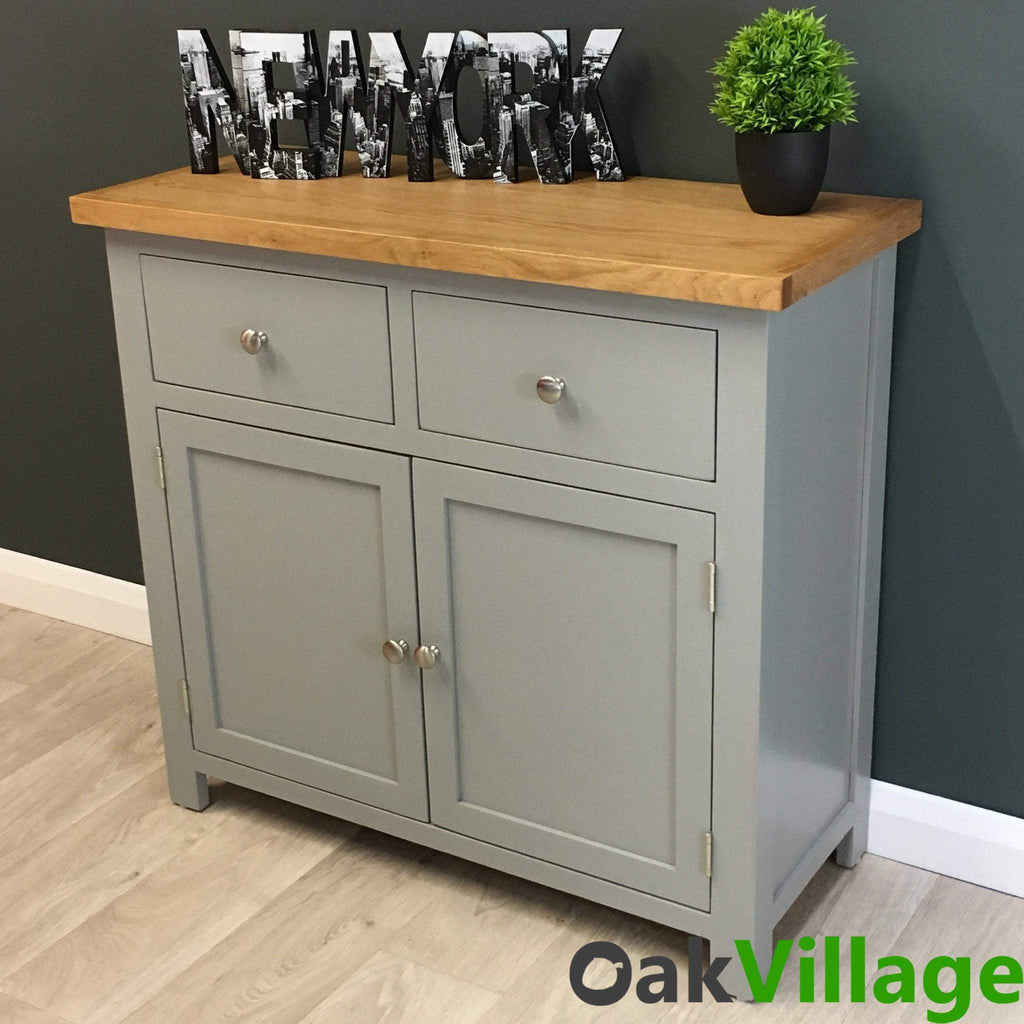 Greymore Painted Oak Small Sideboard - Oak Village