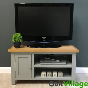 Greymore Painted Oak Plasma TV Unit - Oak Village
