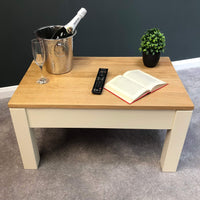 Harlow Painted Cream Coffee Table - Oak Village