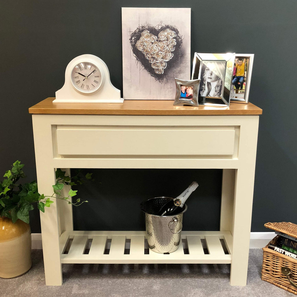 Harlow Painted Cream Console Table - Oak Village
