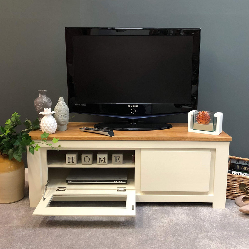 Harlow Painted Cream Plasma Unit - Oak Village