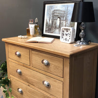 Harvard 2 Over 3 Chest of Drawers - Oak Village