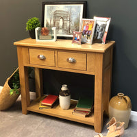 Harvard Oak Console Table - Oak Village