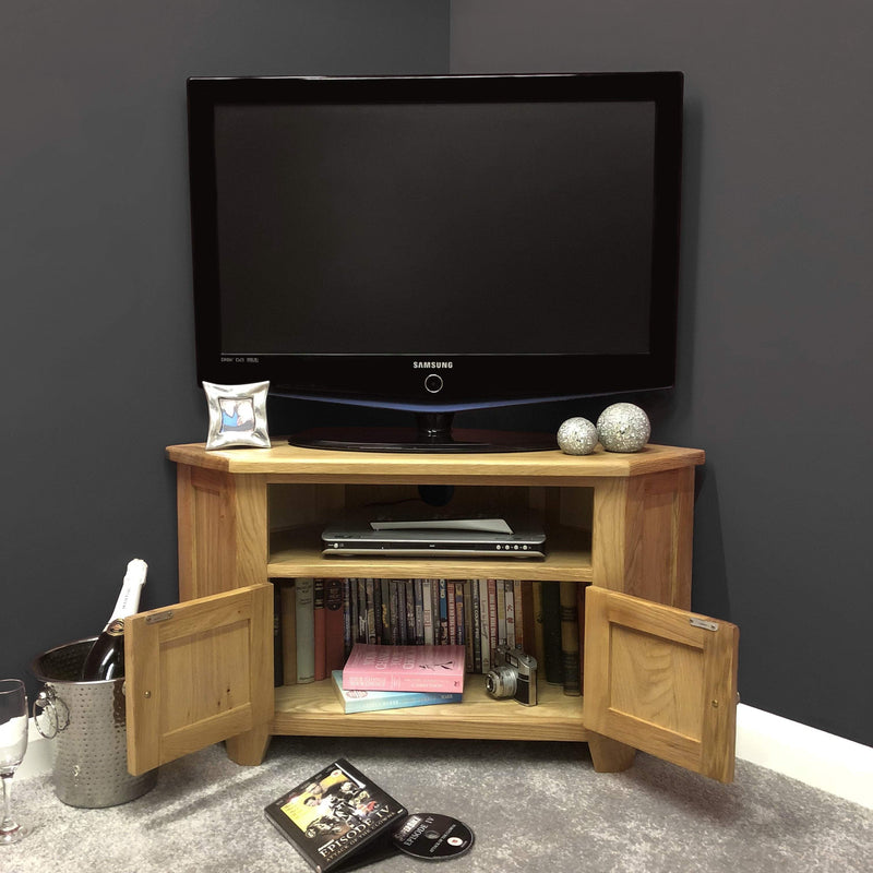 Harvard Oak Corner TV Unit - Oak Village
