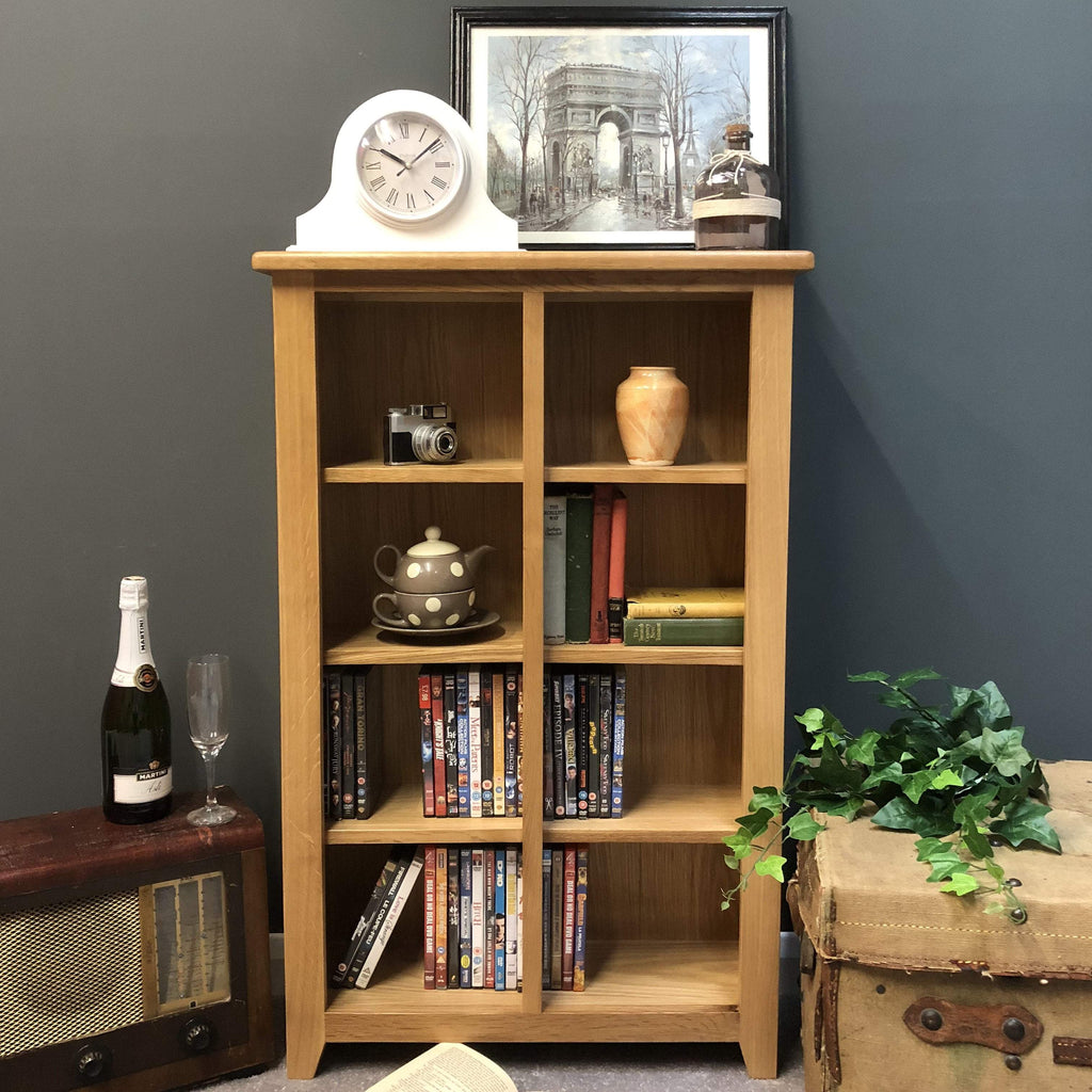 Harvard Oak DVD Storage Unit - Oak Village