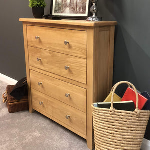 Harvard Oak Shoe Storage Cupboard - Oak Village