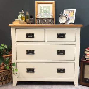 Lundey Cream Painted 2 Over 2 Chest of Drawers - Oak Village