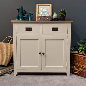 Lundey Cream Painted Oak Small Sideboard - Oak Village
