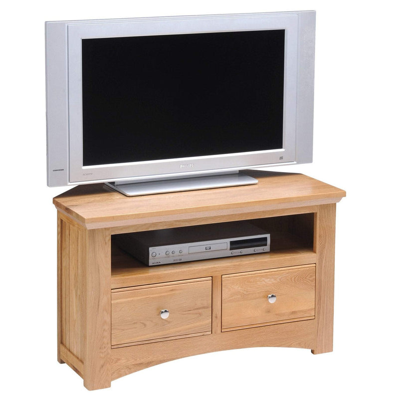 New England Corner TV Unit - Oak Village