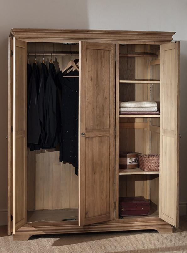 Normandy Farmhouse 3 Door Wardrobe - Oak Village