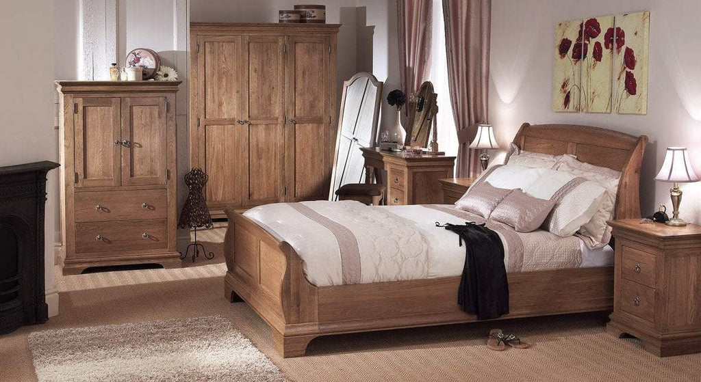 Normandy Farmhouse Bedstead - Oak Village
