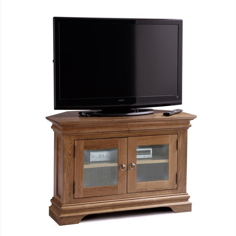Normandy Farmhouse Corner T.V Unit - Oak Village