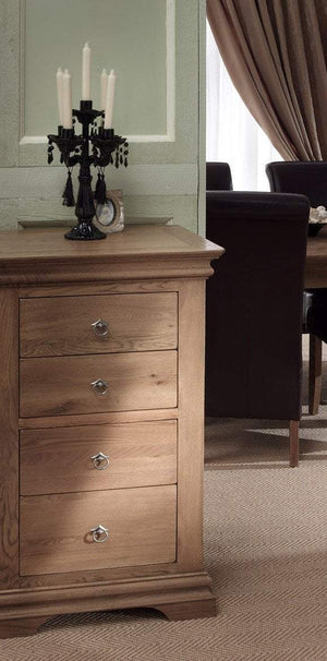 Normandy Farmhouse Narrow 4 Drawer Chest - Oak Village