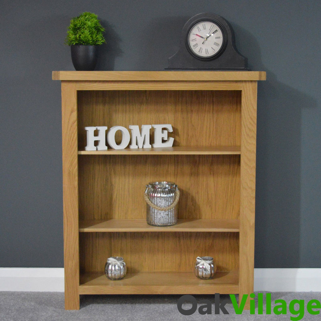 Oakley Small Oak Bookcase - Oak Village