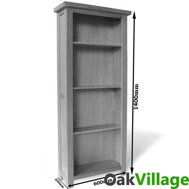 Oakley Tall Oak Bookcase - Oak Village