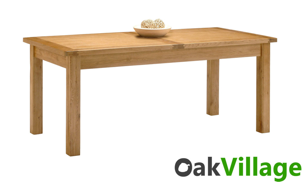 Oakworth Large Oak Dining Room Table / Extendable - Oak Village