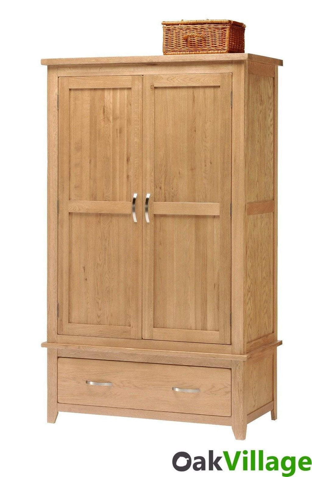 Oakworth Oak 2 Door Double Wardrobe - Oak Village