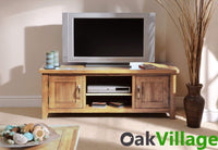 Oakworth Oak Plasma TV Stand - Oak Village