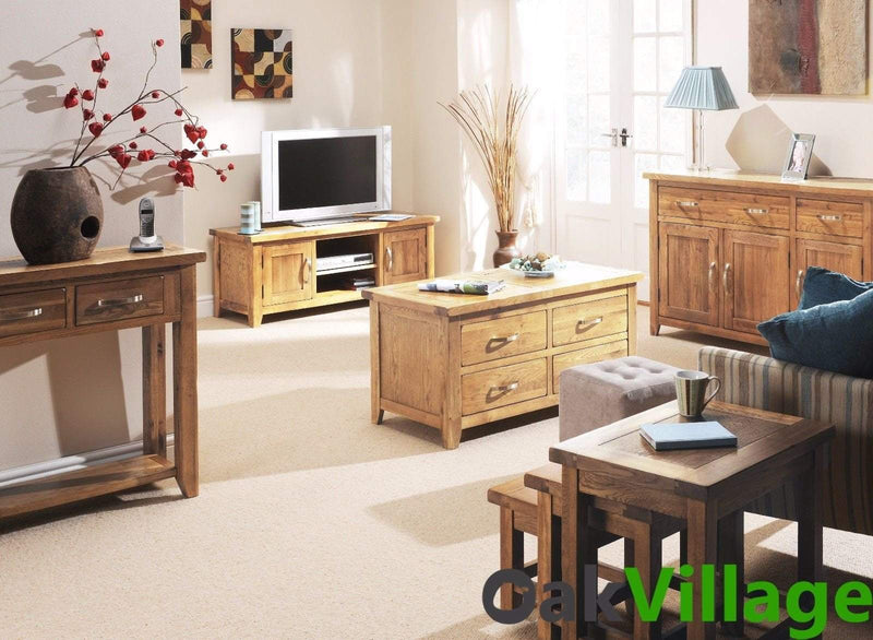 Oakworth Oak Small Lamp Table - Oak Village