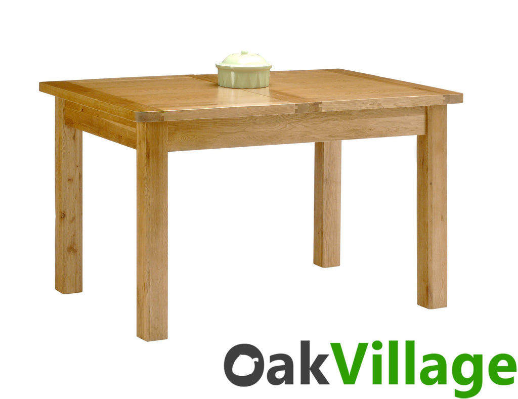 Oakworth Solid Oak Small Dining Room Table / Extendable - Oak Village