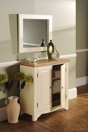 Rosehill Painted Oak 2 Door Linen Cabinet - Oak Village