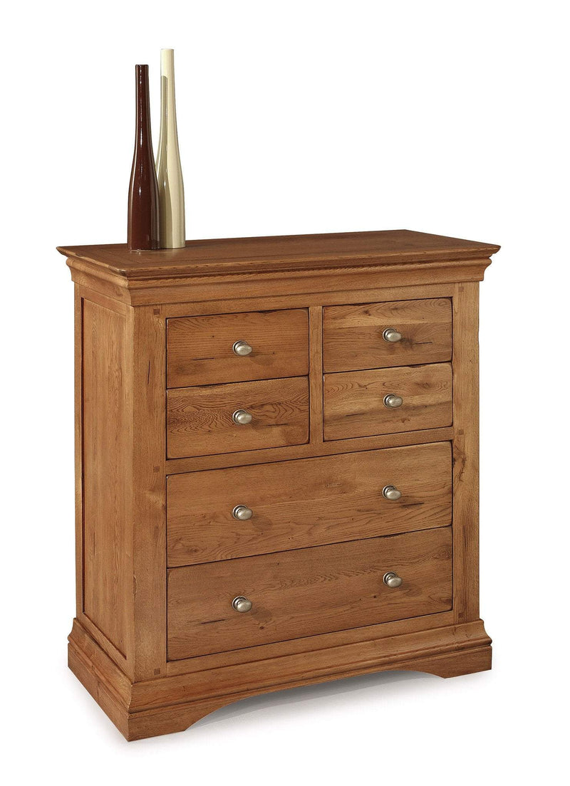 Toulouse Oak 4 Over 2 Chest Of Drawers - Oak Village
