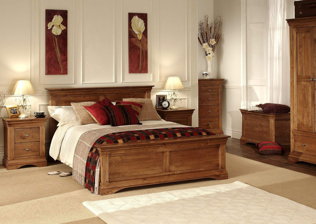 Toulouse Oak Bedstead - Oak Village