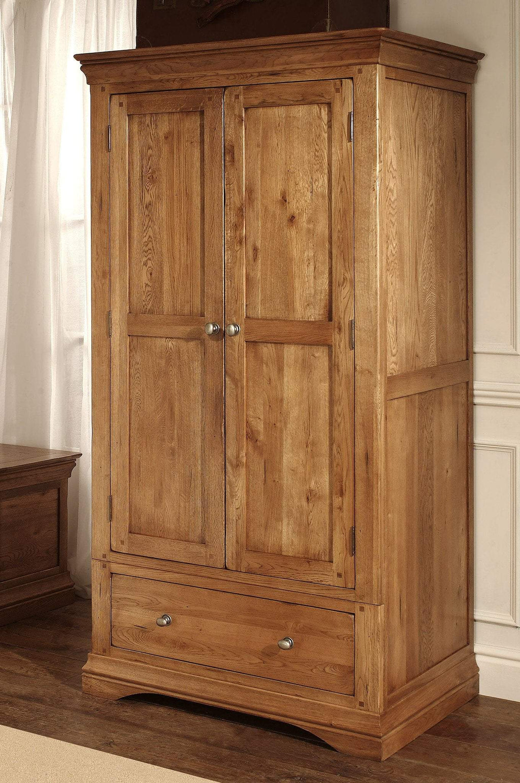 Toulouse Oak Double Wardrobe - Oak Village