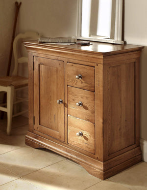 Toulouse Oak Hall Cupboard - Oak Village