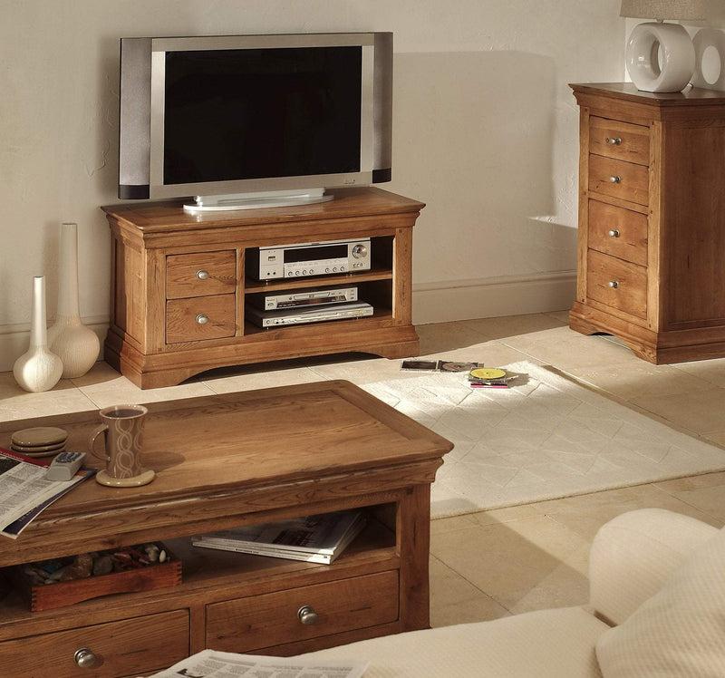 Toulouse Oak Plasma T.V Unit - Oak Village