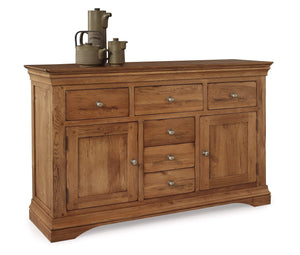Toulouse Solid Oak Large Sideboard - Oak Village