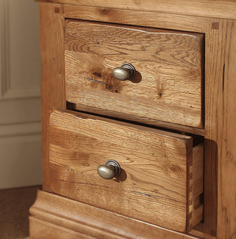 Oak Furniture Village Sale: Toulouse Solid Oak Louis Philippe 2 Drawer Bedside Table