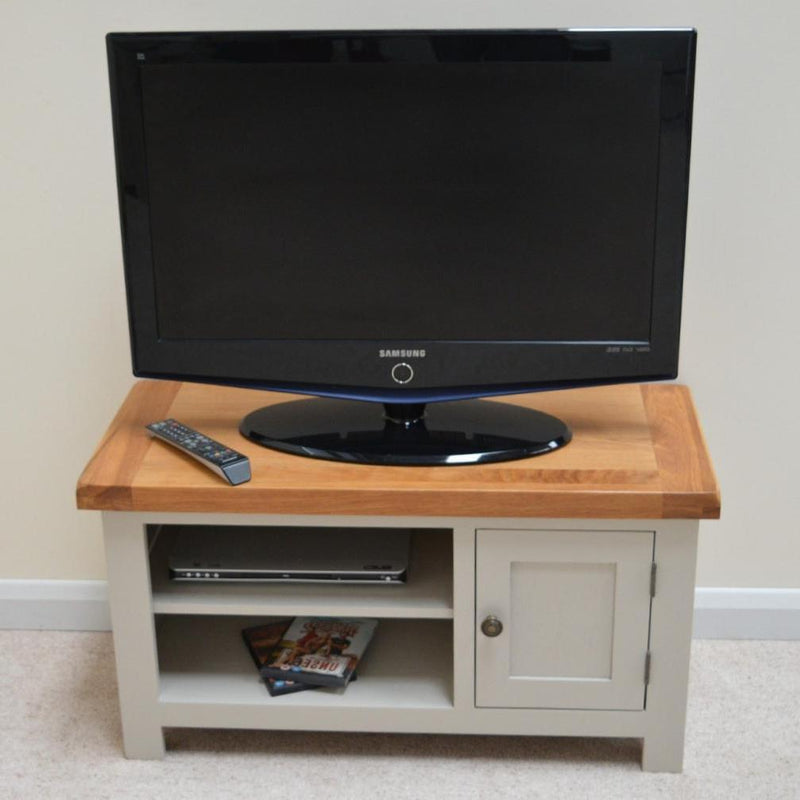 low priced defe8 661cb Tuscan Grey Painted Oak Plasma TV Stand