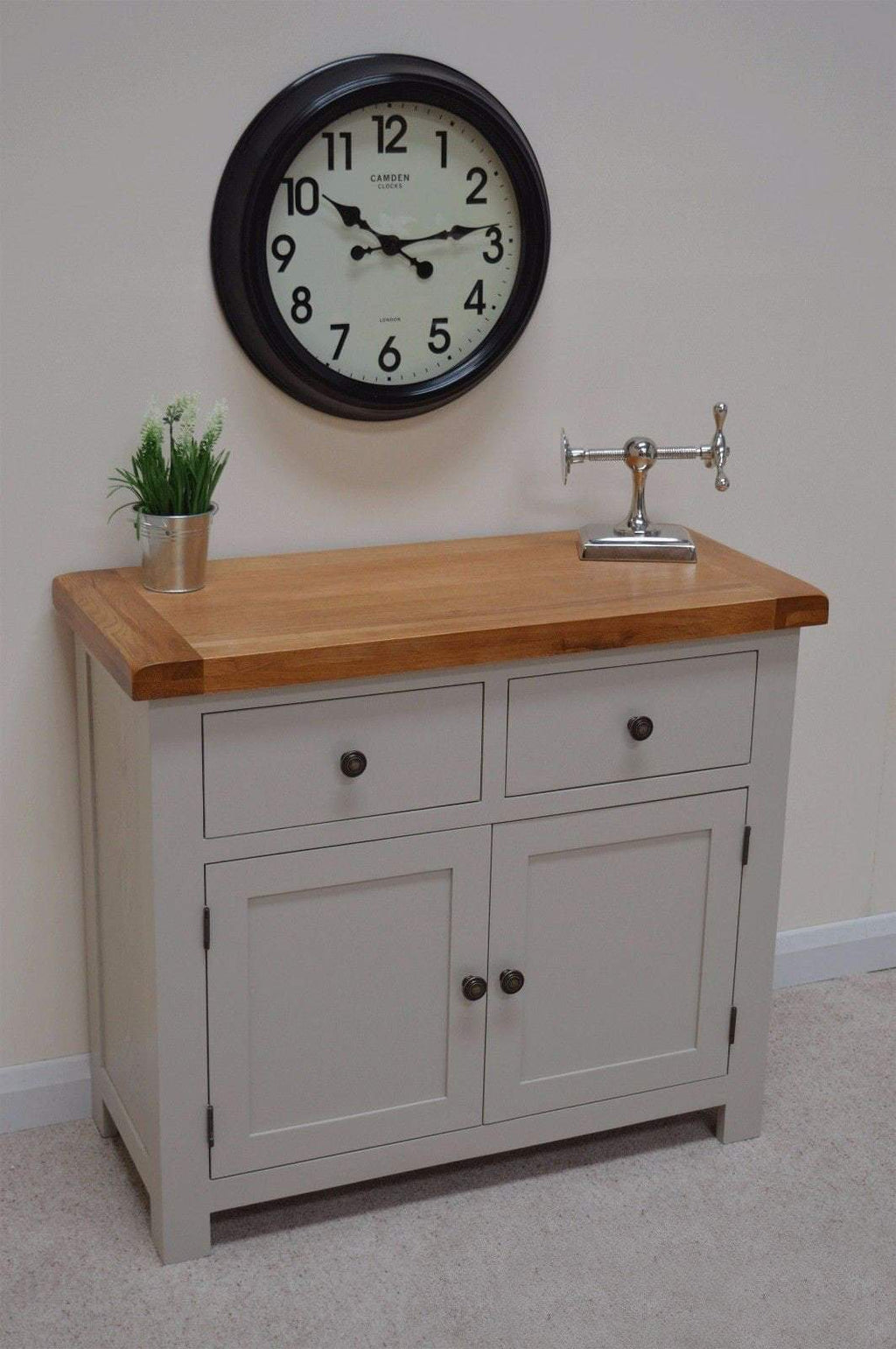 Tuscan Grey Painted Oak Small Sideboard - Oak Village