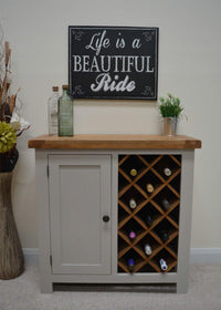 Tuscan Grey Painted Wine Rack - Oak Village