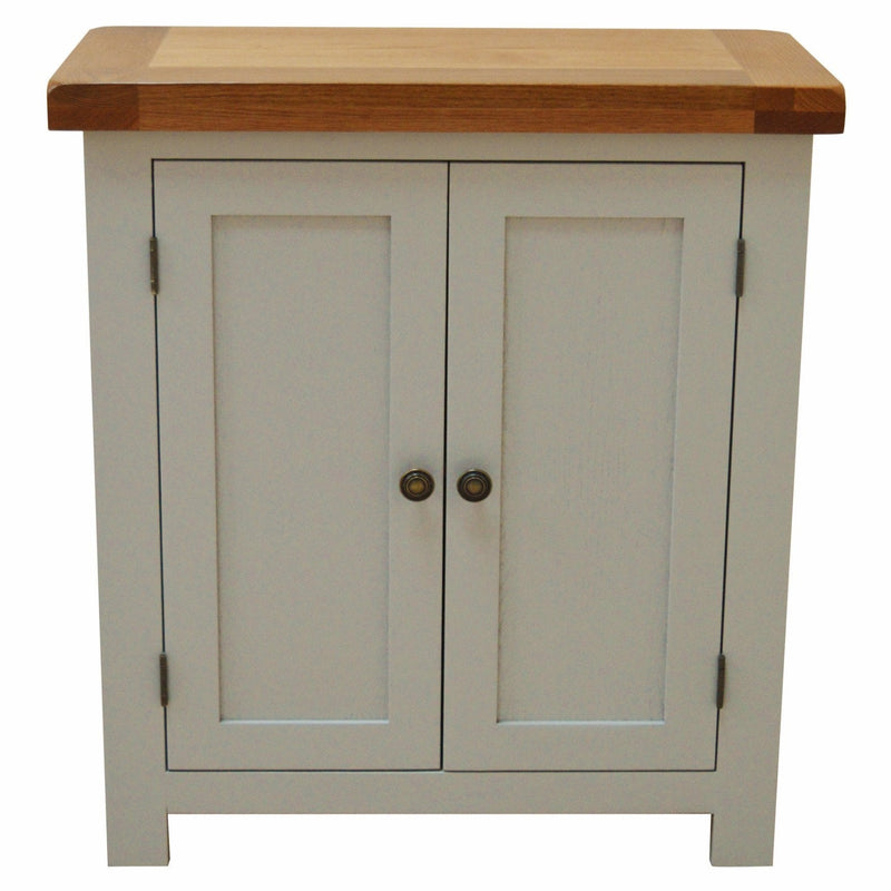 Tuscan Painted 2 Door Linen Cupboard / Storage Unit - Oak Village