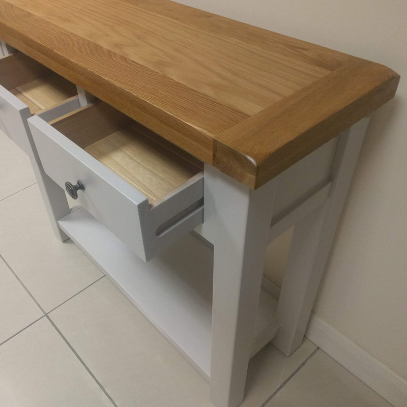 Tuscan Painted 2 Drawer Console Table / Hall table - Oak Village