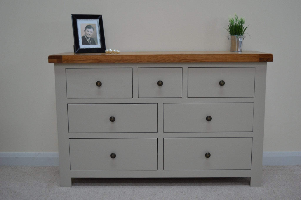 Tuscan Painted 7 Drawer Multi Chest - Oak Village