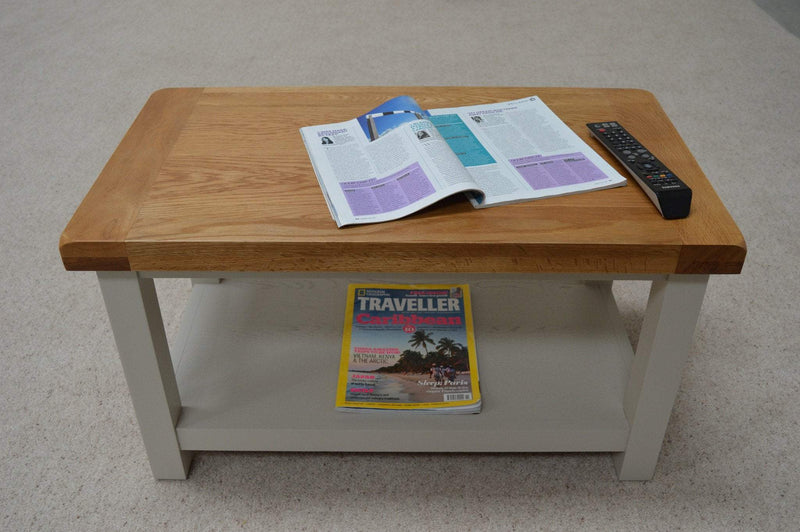 Walcot Painted Coffee Table With Shelf - Oak Village