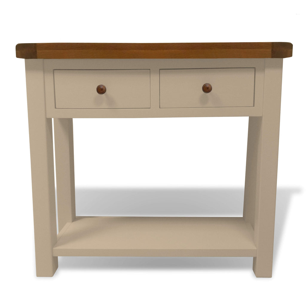 Walcot Painted Console Table with Oak Top - Oak Village