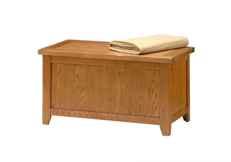 Wessex Country Oak Blanket Box - Oak Village