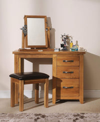 Wessex Country Oak Dressing Table Stool - Oak Village