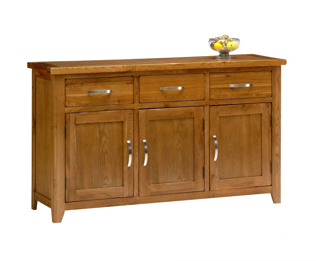 Wessex Country Oak Large Sideboard - Oak Village