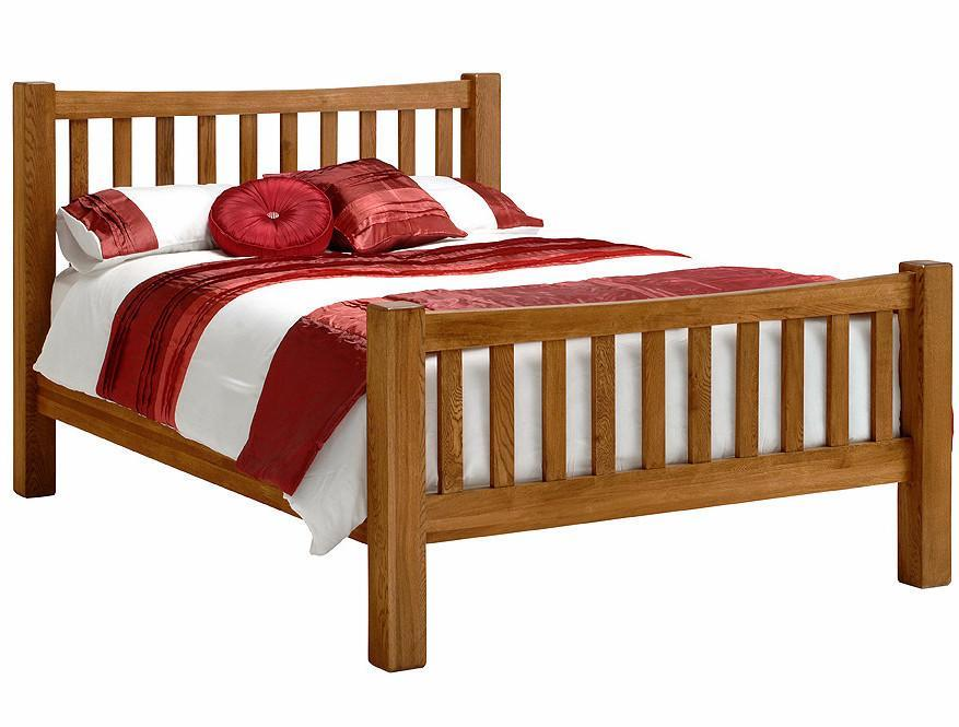 Wessex Country Oak Slatted Bedstead - Oak Village