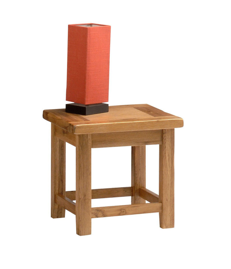 Wessex Country Oak Small Lamp Table - Oak Village