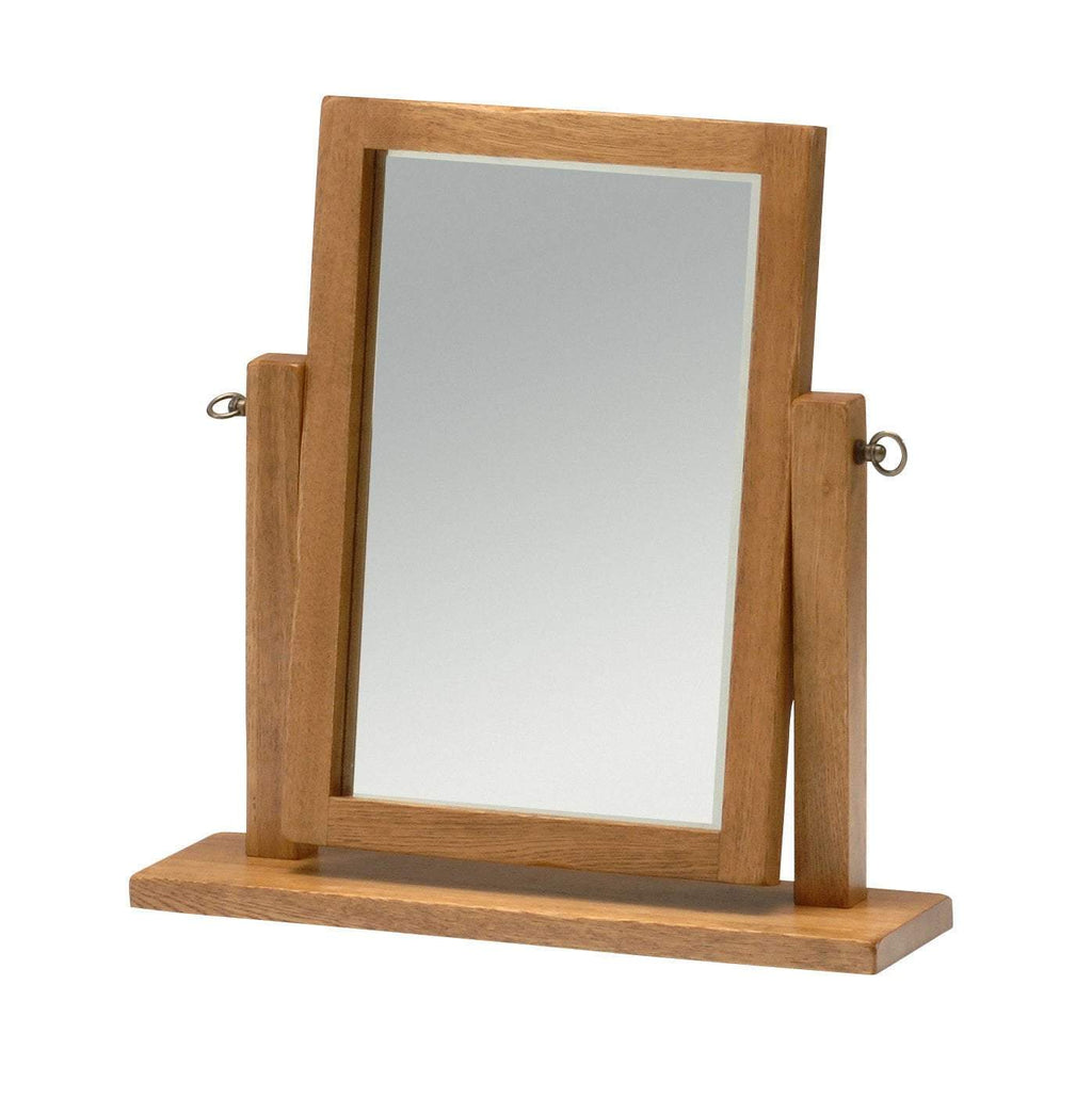 Wessex Country Oak Swing Mirror - Oak Village